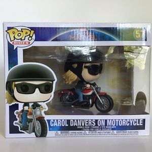Capt Marvel Carol Danvers on Motorcycle Funko POP